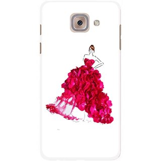 Snooky Printed Rose Girl Mobile Back Cover For Samsung Galaxy J7 Max - Multicolour