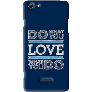 Snooky Printed Love Your Work Mobile Back Cover For Micromax Canvas Selfie 3 Q348 - Multi