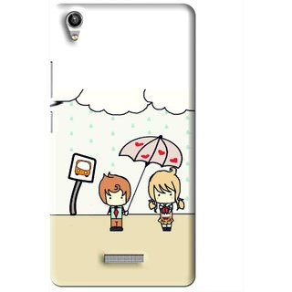 Snooky Printed Feelings in Love Mobile Back Cover For Lava Pixel V1 - Multi