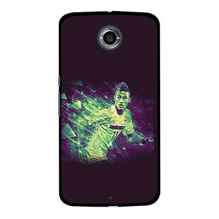 Snooky Printed Running Boy Mobile Back Cover For Motorola Nexus 6 - Multicolour