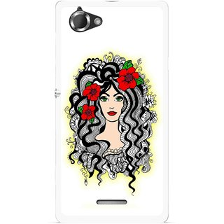 Snooky Printed Tarro Girl Mobile Back Cover For Sony Xperia L - Multicolour