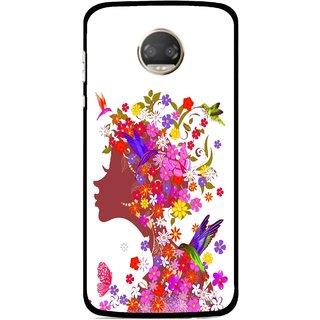 Snooky Printed Girl Beauty Mobile Back Cover For Motorola Moto Z2 Play  - Multicolour