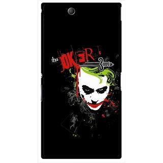 Snooky Printed The Joker Mobile Back Cover For Sony Xperia Z Ultra - Multicolour