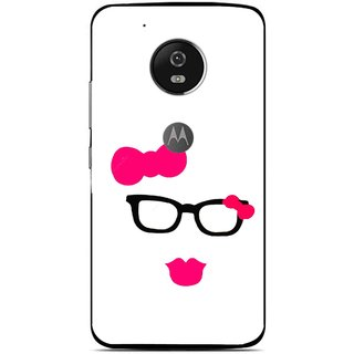 Snooky Printed Pinky Girl Mobile Back Cover For Moto G5 - Multi