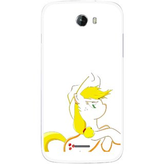 Snooky Printed Horse Cartoon Mobile Back Cover For Micromax Bolt A068 - Multicolour