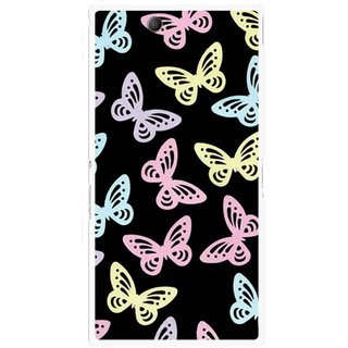 Snooky Printed Butterfly Mobile Back Cover For Sony Xperia Z Ultra - Multicolour