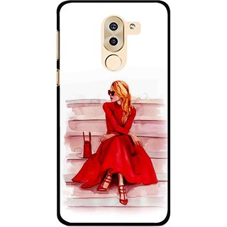 Snooky Printed Attitude Girl Mobile Back Cover For Huawei Honor 6X - Multi