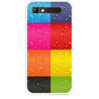 Snooky Printed Water Droplets Mobile Back Cover For Intex Aqua Y2 Pro - Multicolour