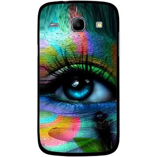 Snooky Printed Designer Eye Mobile Back Cover For Samsung Galaxy Core - Multicolour