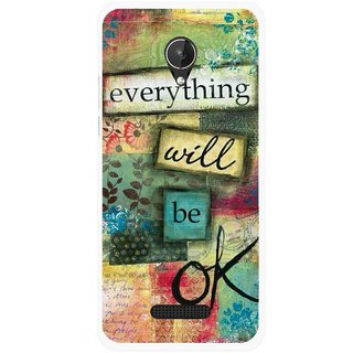 Snooky Printed Will Ok Mobile Back Cover For Micromax Canvas Spark Q380 - Multicolour