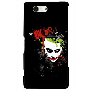 Snooky Printed The Joker Mobile Back Cover For Sony Xperia Z3 Compact - Multicolour
