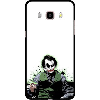 Snooky Printed Joker Mobile Back Cover For Samsung Galaxy J7 (2016) - Multicolour
