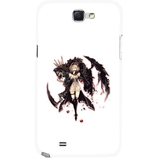Snooky Printed Kungfu Girl Mobile Back Cover For Samsung Galaxy Note 2 - Multicolour