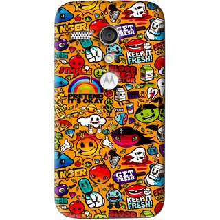 Snooky Printed Freaky Print Mobile Back Cover For Moto G - Multi