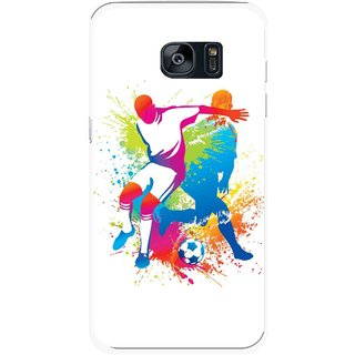 Snooky Printed Footbal Mania Mobile Back Cover For Samsung Galaxy S7 - Multicolour