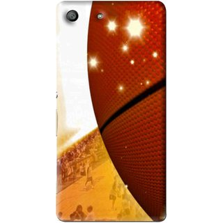 Snooky Printed Basketball Club Mobile Back Cover For Sony Xperia M5 - Multi