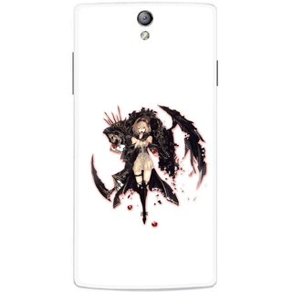 Snooky Printed Kungfu Girl Mobile Back Cover For Oppo Find 5 Mini - Multicolour