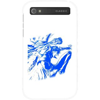 Snooky Printed Horse Boy Mobile Back Cover For Blackberry Classic - Multicolour