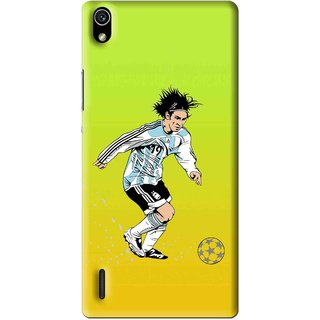 Snooky Printed Focus Ball Mobile Back Cover For Huawei Ascend P7 - Multi