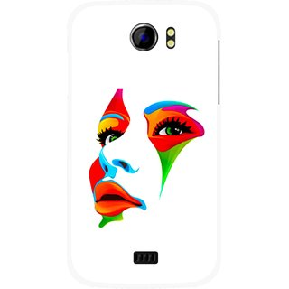 Snooky Printed Modern Girl Mobile Back Cover For Micromax Canvas 2 A110 - Multicolour