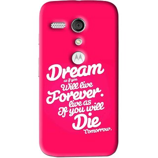 Snooky Printed Live the Life Mobile Back Cover For Moto G - Multi