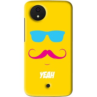 Snooky Printed Yeah Mobile Back Cover For Micromax Canvas Android One - Multi