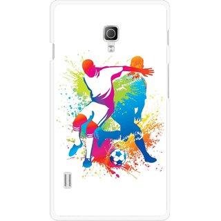 Snooky Printed Footbal Mania Mobile Back Cover For Lg Optimus L7 II P715 - Multicolour