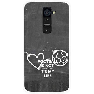 Snooky Printed Football Life Mobile Back Cover For Lg G2 - Multi