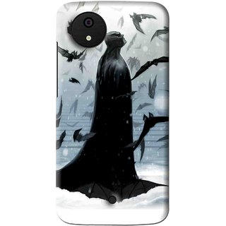 Snooky Printed Black Bats Mobile Back Cover For Micromax Canvas Android One - Multi