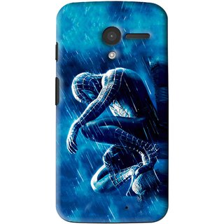 Snooky Printed Blue Hero Mobile Back Cover For Moto X - Multi