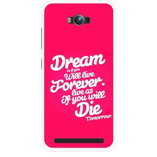 Snooky Printed Live the Life Mobile Back Cover For Asus Zenfone Max - Multicolour