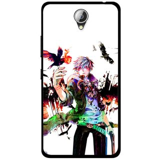 Snooky Printed Angry Man Mobile Back Cover For Lenovo A5000 - Multicolour