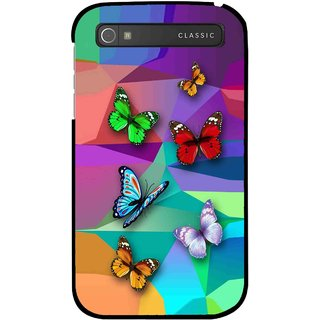 Snooky Printed Trendy Buterfly Mobile Back Cover For Blackberry Classic - Multi