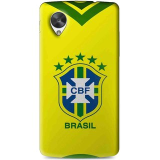 Snooky Printed Brasil Mobile Back Cover For Lg Google Nexus 5 - Multi
