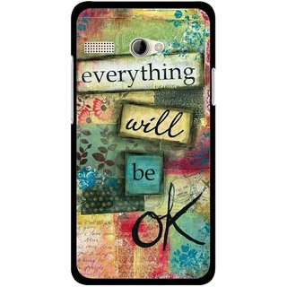 Snooky Printed Will Ok Mobile Back Cover For Intex Aqua 3G Pro - Multicolour