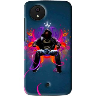 Snooky Printed Live In Attitude Mobile Back Cover For Micromax Canvas Android One - Multi