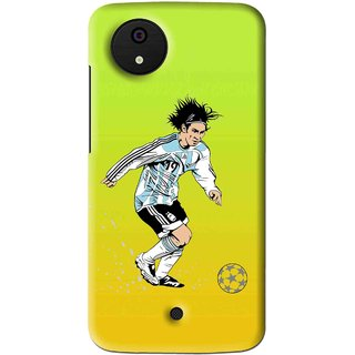 Snooky Printed Focus Ball Mobile Back Cover For Micromax Canvas Android One - Multi