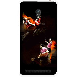 Snooky Printed Sports Player Mobile Back Cover For Asus Zenfone 5 - Multicolour
