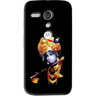 Snooky Printed God Krishna Mobile Back Cover For Moto G - Multi