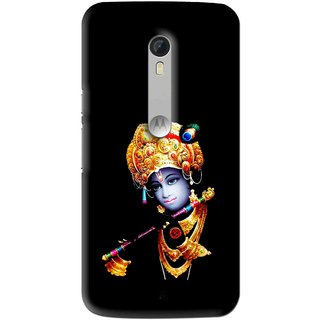 Snooky Printed God Krishna Mobile Back Cover For Motorola Moto X Style - Multi