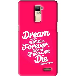 Snooky Printed Live the Life Mobile Back Cover For Oppo R7 Plus - Multi