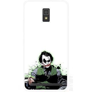 Snooky Printed Joker Mobile Back Cover For Lenovo A6600 - Multicolour