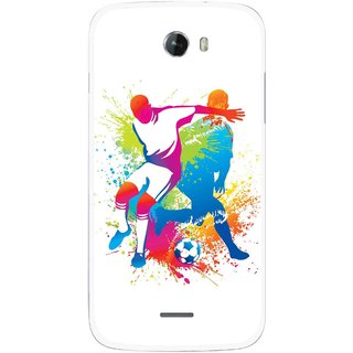Snooky Printed Footbal Mania Mobile Back Cover For Micromax Bolt A068 - Multicolour