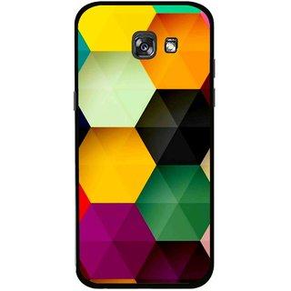 Snooky Printed Hexagon Mobile Back Cover For Samsung Galaxy A5 (2017) - Multicolour