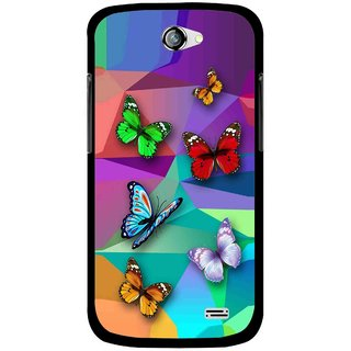 Snooky Printed Trendy Buterfly Mobile Back Cover For Gionee Pioneer P2 - Multi