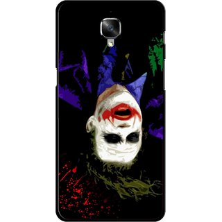 Snooky Printed Hanging Joker Mobile Back Cover For OnePlus 3 - Multicolour