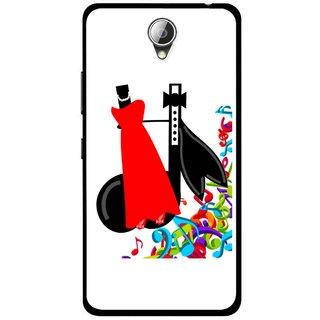 Snooky Printed Fashion Mobile Back Cover For Lenovo A5000 - Multicolour