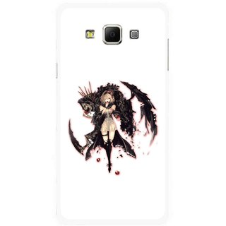 Snooky Printed Kungfu Girl Mobile Back Cover For Samsung Galaxy E5 - Multicolour