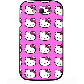 Snooky Printed Pink Kitty Mobile Back Cover For Samsung Galaxy Grand I9082 - Multicolour