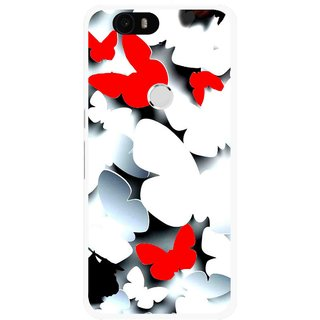 Snooky Printed Butterfly Mobile Back Cover For Huawei Nexus 6P - Multi